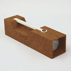 Rhode Island School of Design student Joseph Guerra has designed a flashlight made from CNC-cut cork
