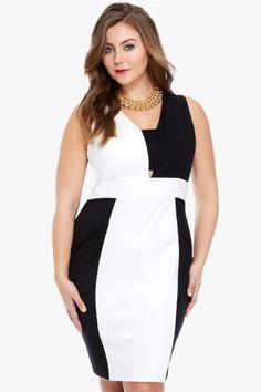 Plus Size San Fran Color Block Dress | Fashion To Figure
