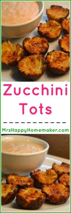 Zucchini Tots - these are absolutely delicious! I'm a Southern food lover, and big on 'taters - and even I don't miss the potatoes in this extremely delicious version of the classic tater tot. My kids go crazy over these too, & they're super easy! | MrsHappyHomemaker.com @thathousewife
