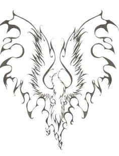 Phoenix Tattoo by ~sodoshiin on deviantART-- try taking out firm outline on flame wings Phoenix Bird Tattoos, Phoenix Tattoo Design, Phoenix Design, Body Art Tattoos, Tatoos, Phenix Tattoo, Tattoo Dentelle, Celtic, Phoenix Art