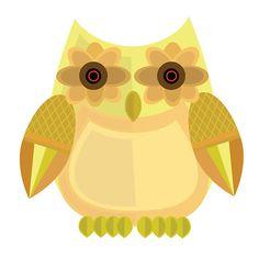Harvest Owl - Yellow http://www.redbubble.com/people/adamzworld/works/10844953-harvest-owl-yellow