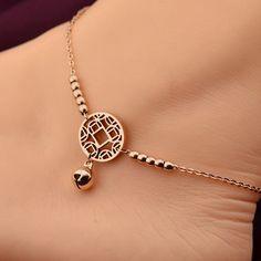 Little Bell Rose Gold Anklet Bracelet - BleauStyle
