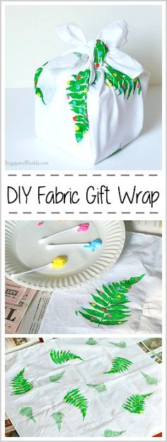 DIY Fabric Gift Wrap