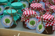 Picnic themed goodies for a baby party
