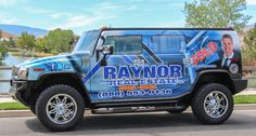 Wrapped Hummer for Raynor Real Estate in Reno Nevada Reno Nevada, Car Wrap, Hummer, Real Estate Marketing, Monster Trucks, Van, Business, Design, Lobsters