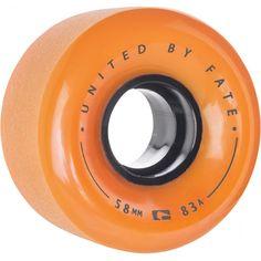 Globe Bruiser - Orange/Black - 58mm 83a - Skateboard Wheels (Set of 4)