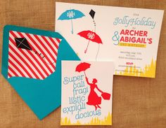 Mary Poppins themed party invitation for a #twins #birthday I Custom by Nico and Lala
