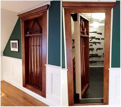 cool hidden gun storage furniture ideas Salt board for hanging guns