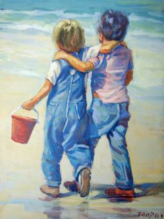 Lovely Mother's Day gift  Beach Boys on the beach by LucelleRaad