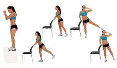 Musculación, ejercicios y fisicoculturismo: Ejercicios para Glúteos y caderas para hacer en casa