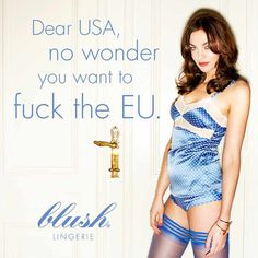 Blush Lingerie capitalizes on Secretary of State Nuland's potty-mouth foreign policy with set of scandal ads featuring Kristina Güenther.
