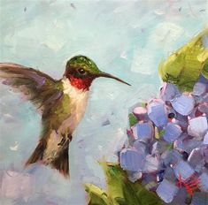 Krista Eaton Gallery of Original Fine Art Hummingbird Painting, Red Hummingbird, Hummingbird Pictures, Paintings I Love, Oil Paintings, Fine Art Gallery, Pet Portraits, Illustration Art, Illustrations