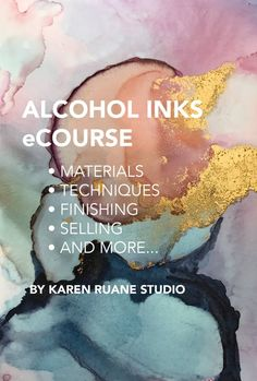 Watch Karen Ruane Studio - Alcohol Inks eCourse Online | Vimeo On Demand on Vimeo