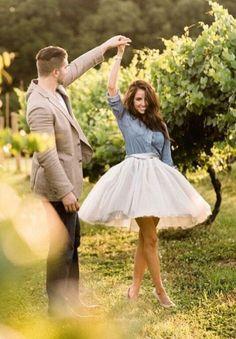 Silver Gray Tulle skirt
