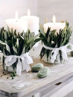 classy candles for winter decor.