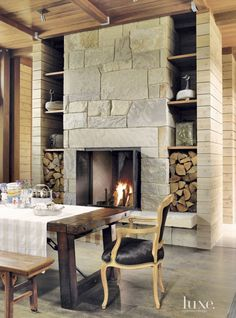 Keep warm with these spectacular fire features both indoor and out.
