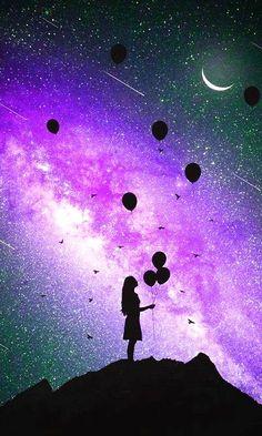 La luz que nos gia – Simon Ray - Space Scenery Wallpaper, Painting Wallpaper, Cute Wallpaper Backgrounds, Disney Wallpaper, Cartoon Wallpaper, Cute Wallpapers, Galaxy Painting, Galaxy Art, Cute Galaxy Wallpaper