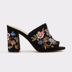 25 best mule shoes to shop this Summer - Aldo Yaessi Mule embroidered mule