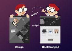 How a custom design might fall flat using Bootstrap's framework