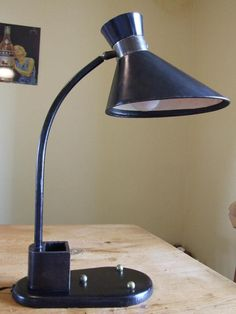 Art Deco  Desk Lamp, Leather By Jaques  Adnet..