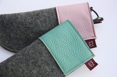 Brillenetuis aus Filz und Leder / felt and leather case for glasses by Schoepf via DaWanda.com
