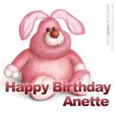 Tillykke med Føsdagen Faster Anette!