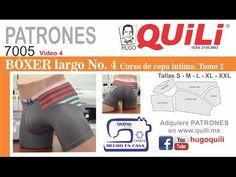 PATRONES 7005 Vídeo 4 BOXER Largo TOMO 2  Curso de Ropa intima. Lencería  intima - YouTube