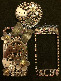 This case  can be designed for any phone model please leave note with the initials you want on the case #bedazzledcases