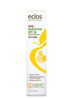 NEW Daily HydraPrimer SPF 30 from Eclos with Apple Stem Cell Technology. @FreemanBeauty @EclosBeauty #primer #eclos