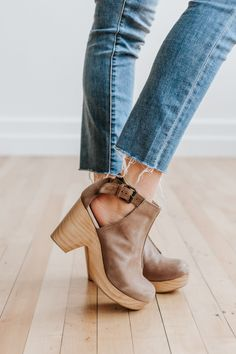 RESTOCK: Free People: Amber Orchard Clog in Taupe