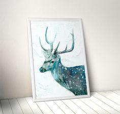 plakaty-zimowy jeleń 50x70