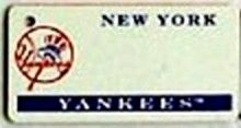 """This is an MLB New York Yankees Team License Plate Key Chain or Tag. An excellent and affordable gift for an avid MLB fan! The key chain is available with engraving or without engraving. It is a standard key chain made of durable plastic and size is approximately 1.13"""" x 2.25"""" and 1/16"""" thick."""