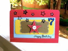 Seventh Birthday Card for boys, $5.99