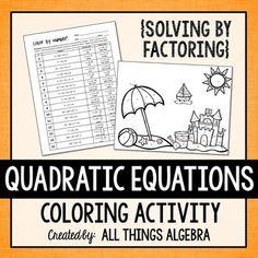 solving quadratic equations by factoring quiz pdf