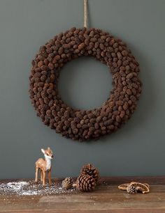 For Next Year – Spruce Cone Wreath The Night Before Christmas, Christmas Time, Christmas Crafts, Christmas Decorations, Xmas, Holiday Decor, Acorns To Oaks, Holiday Wreaths, Christmas Inspiration