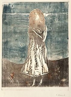 Edvard Munch - 'Young Woman on the Beach'