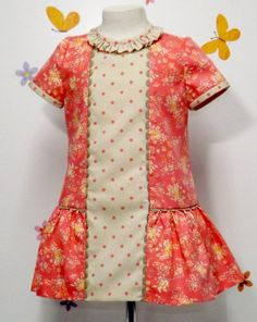 Ropa de Bebe hecha a mano Baby Girl Frocks, Kids Frocks, Frocks For Girls, Dresses Kids Girl, Cute Dresses, Kids Outfits, Girls Dresses Sewing, Baby Girl Dress Design, Frock Patterns