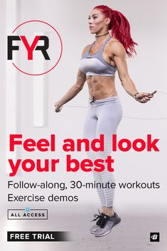 30 minute high-intensity workouts designed to make you sweat! With your All Access subscription youll get FYR plus 50 other fitness plans. Leg Day Workouts, Six Pack Abs Workout, Ab Workout Men, Workout Plan For Women, Fun Workouts, Body Workouts, Tips Fitness, 30 Day Fitness, Fitness Goals
