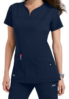 Shop for solid scrub tops in vibrant colors and comfortable styles at Scrubs & Beyond. We carry solid scrub tops made by all of the most trusted brands. Greys Anatomy Uniforms, Greys Anatomy Scrubs, Scrubs Outfit, Scrubs Uniform, Dental Uniforms, Cherokee Uniforms, Cute Scrubs, Medical Scrubs, Nursing Scrubs