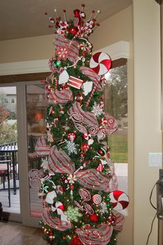 slim tree for my food ornaments in the kitchen candy cane christmas tree christmas gingerbread - Slim Christmas Tree Decorating Ideas