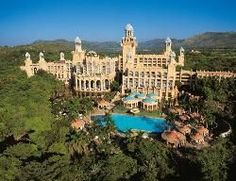 The Palace of the Lost City in the Pilansberg region of South Africa - play golf at the Gary Player country club, Lost City course ( complete with hippos on the water hole ) and enjoy the largest wave pool in Africa!