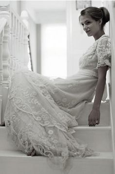 Relaxed Vintage wedding dress