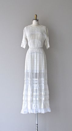 Eliza tea dress 1910s white lace dress antique by DearGolden