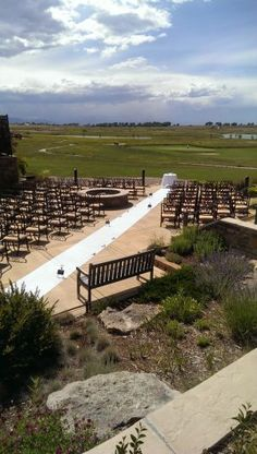 Enjoy the beautiful views at Todd Creek Golf Club for your ceremony site! Thornton, Colorado.