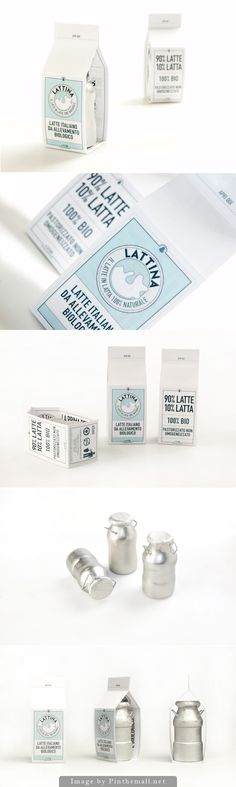 LATTINA (Latte in lattina) Milk packaging design concept PD