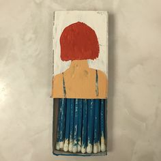 my (@byjacque) little piece in the #strikeawayshow opening tomorrow @paxtongate in #SF - thanks and wish I could be there @ccerruti + @adorndesign all best! #matchbox #art #painting