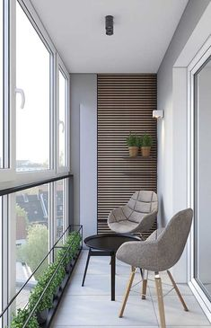 Inspiring Minimalist Home Balcony Design Ideas have an important role in your home because it is located in front of the house. Although only as an additional function, the balcony design must stil… House Balcony Design, Interior Balcony, Small Balcony Design, Small Balcony Decor, Balcony Furniture, Apartment Balcony Decorating, One Bedroom Apartment, Apartment Interior Design, Room Interior