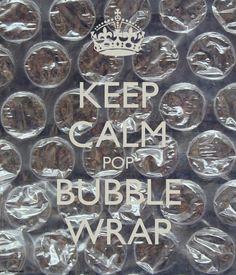 KEEP CALM POP BUBBLE WRAP