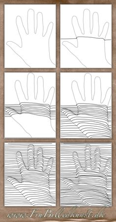 op art hånd - www.FruBilledkunst.dk