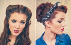Vintage hair tutorials! Will definitely be trying the 'Rosie the Riveter' look